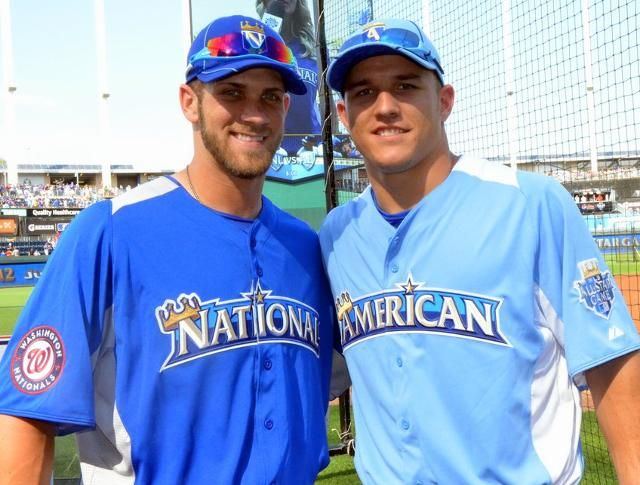 Bryce Harper and Mike Trout.. so hot.: Ballplayer, My Boys, Hotti Mchotterson, Mike Trout,  Baseball Players, Baseb Hotti, Baseb Players, Favorite People, Bryce Harpers