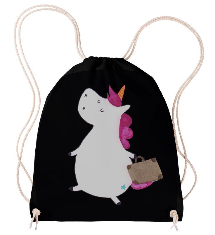 Sportbeutel Einhorn Koffer aus Baumwolle  Natur - Das Original von Mr. & Mrs. Panda.  Dieser wunderschöne Sportbeutel von Mr. & Mrs. Panda ist aus 100% ökologischer Baumwolle gefertigt. Er wird von uns Im Hause mit zertifizierten Farben liebevoll bedruckt. Er hat die Maße 38x42cm und ist natürlich problemlos bei 30 Grad waschbar.     Über unser Motiv Einhorn Koffer  Das reisefreudige Einhorn ist perfekt für Leute, die im tiefsten Inneren immer noch Kind sind. Denn sind wir mal ehrlich…