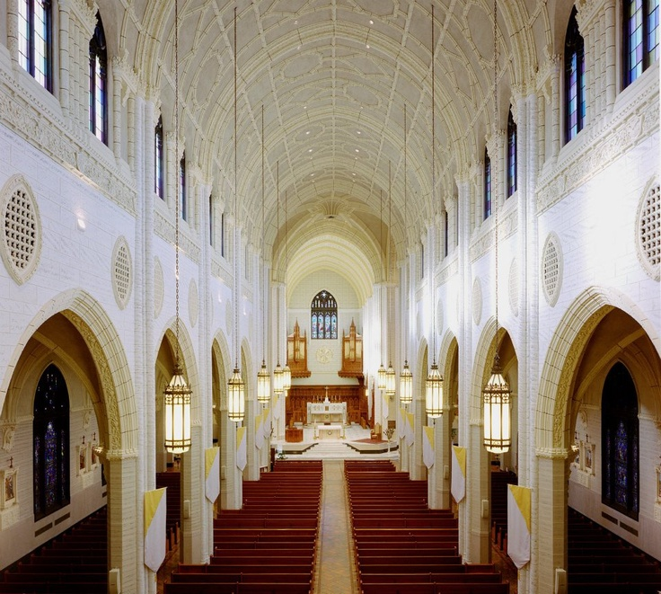 Interior of Basilica of St. Peter and Paul, Lewiston Maine ...