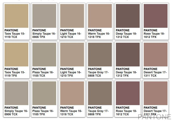 Couleur taupe pantone for Code couleur taupe