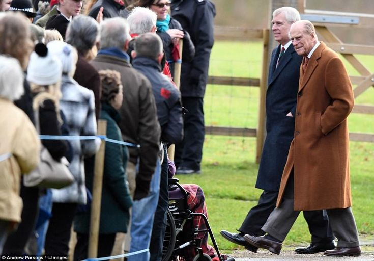 Claps, waves and cheers greeted the 96-year-old Duke as he arrived with Prince Andrew; Pri...
