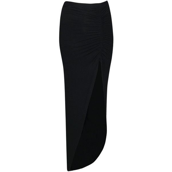 Boohoo Petite Michelle Viscose Maxi Skirt (44 BRL) ❤ liked on Polyvore featuring skirts, bottoms, maxi skirts, saias, petite maxi skirt, ruched maxi skirt, petite long skirts, long jersey skirt and jersey maxi skirt