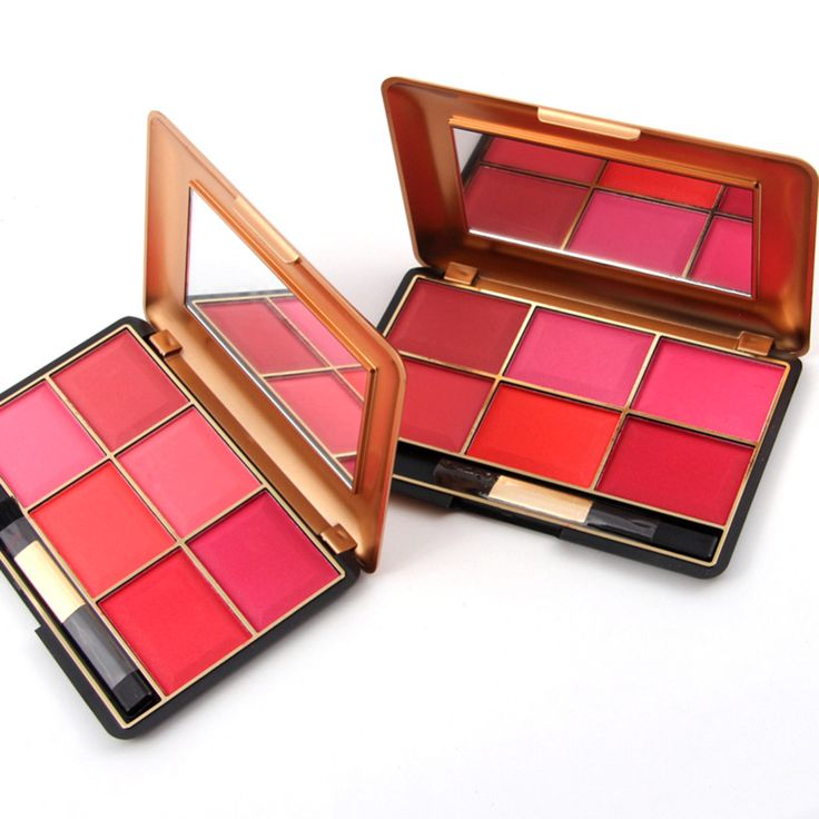 6-Color Blusher Face Palette Professional Natural Cheek Cosmetic Facial Color Blush Makeup Baked Cheek Mineralize Powder