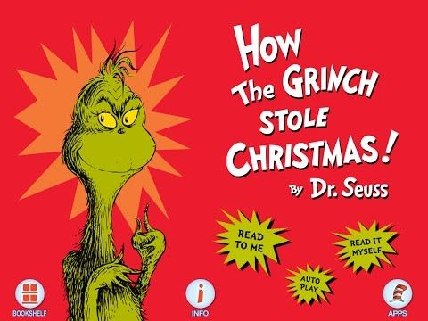 Dr  Seuss How the Grinch Stole Christmas - full movie storybook cartoon