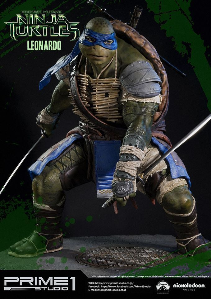 "Prime 1 Studio 1/4 scale  TMNT movie "" Leonardo """