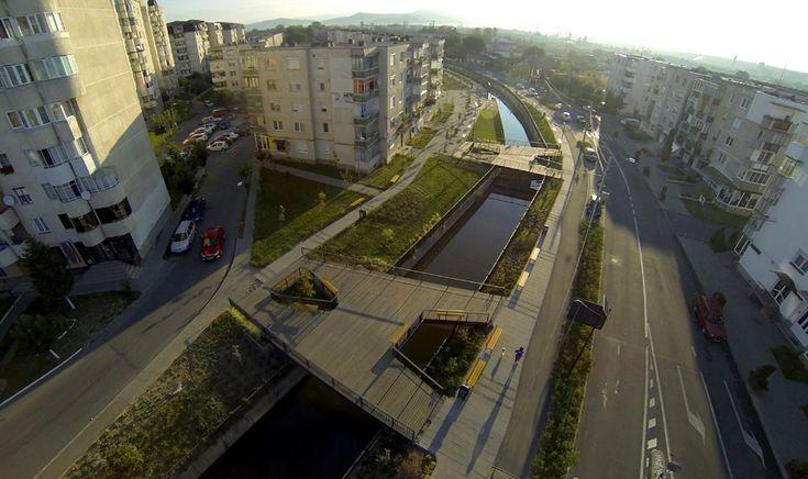 Amenajarea de spații publice, Canalul Morii, Reghin