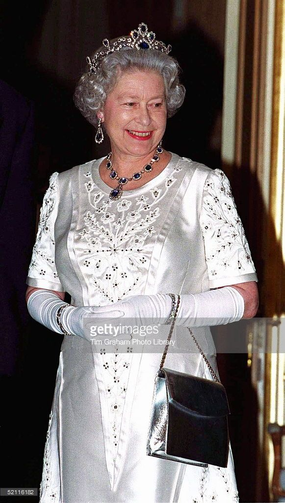 The Queen At The Return Banquet At The French Ambassador's Residence For President Chirac's State Visit To Britain.