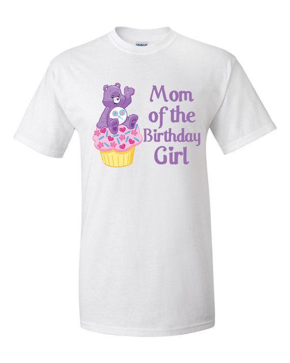 CareBears Birthday Personalized Mom T-Shirt, Onesie, Romper, Tutu