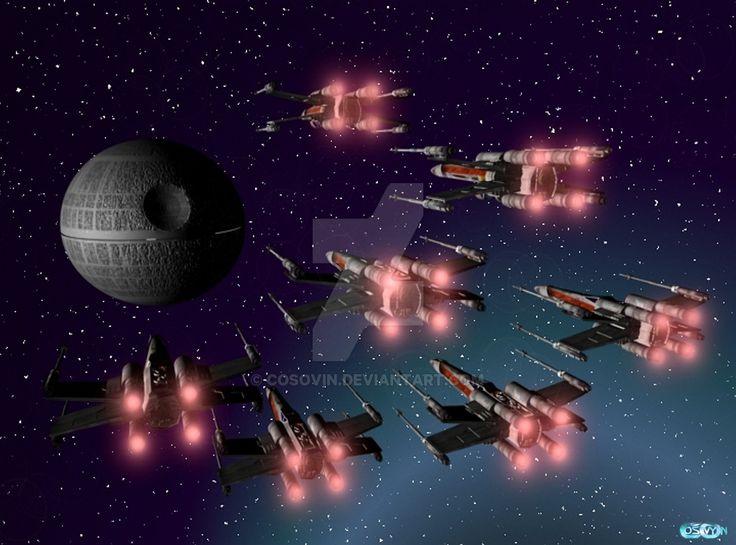 17 Star Wars - XWings Attack on Death Star by cosovin.deviantart.com on @DeviantArt
