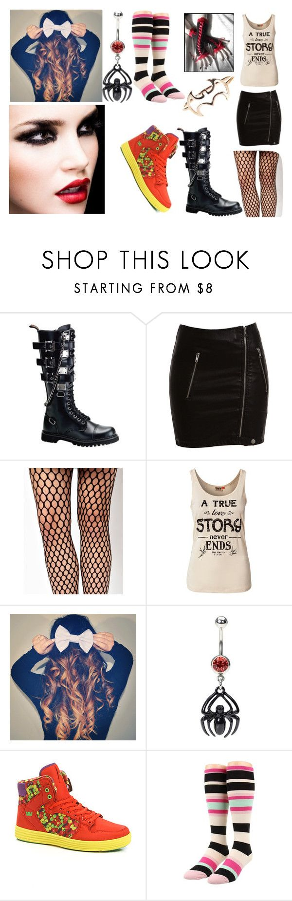 """Ashley's Try Outs"" by emoboobunny ❤ liked on Polyvore featuring Bardot, Wolford, ONLY, Steiner, Supra and Kate Spade"