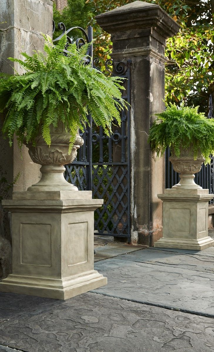 Cast From An All Weather Stone And Resin Composite, Our Chateau Inspired  Parisian · Garden UrnsGarden PlantersStone ...