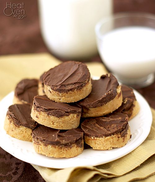 Reese's Peanut Butter Cups (Only Better) ~ Heat Oven to 350