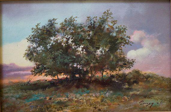 Landscape by Bogdan Goloyad 20x30 cm oil on by BogdanGoloyadArt