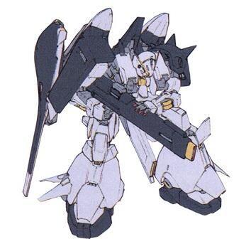 ガンダムTR-6 [ハイザックⅡ]:RX-124 ウーンドウォートの素体にマラサイの脚部ユニットとハイザックの腕を装着した形態。性能はデチューンされているが、一般兵でも扱いやすく、その意味では優秀な機体である。(AOZ)
