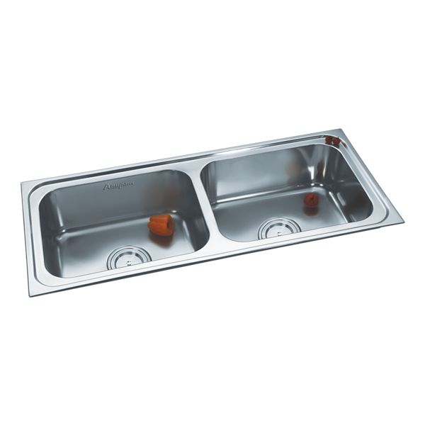 Buy Double Sink 304C Glossy in Sinks through online at NirmanKart.com