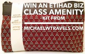 LAST CALL: Enter to Win An Etihad Business Class Amenity Kit