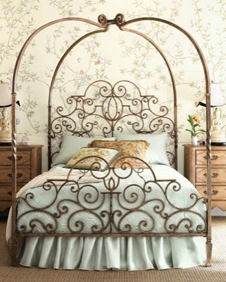 wrought iron princess bed neiman marcus - Wrought Iron Bed Frame