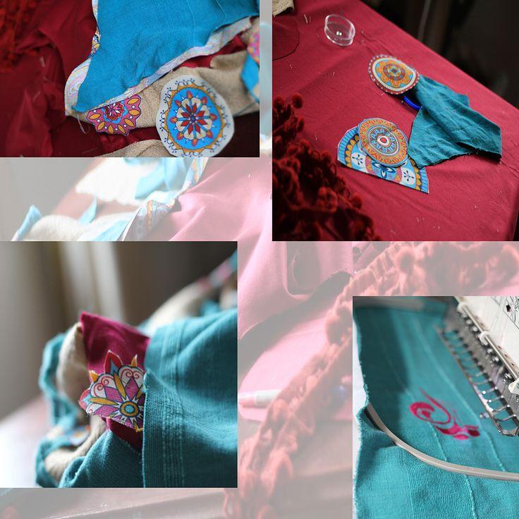 casual bag BOHO EVE, preparation process