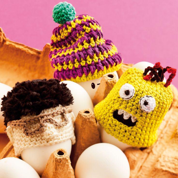 Nicht unseren Kopf - haltet euer Frühstücksei warm ...und stylisch. Funny Eggs!