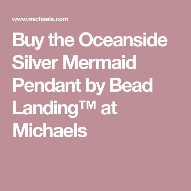 Buy the Oceanside Silver Mermaid Pendant by Bead Landing™ at Michaels