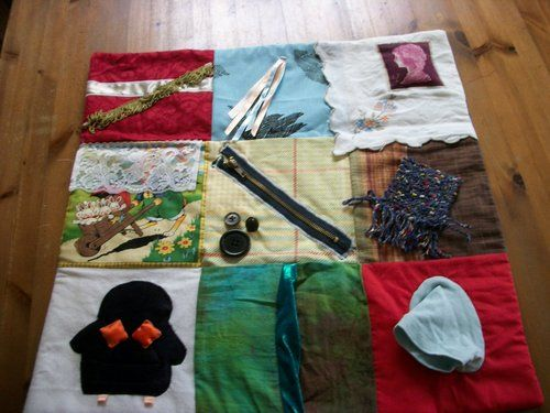 Reminiscence Fidget Lap Blanket Dementia, ADHD & Alzeimers patients | eBay