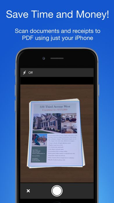 Smart PDF Scanner: Scan Documents and Receipts on App Store:    Check our developer page for other great Apps!  Ditch the office scanner! Just snap a photo of your document and get a PDF file you ...  Developer: Qrayon LLC  Download at http://ift.tt/1ScvKdB