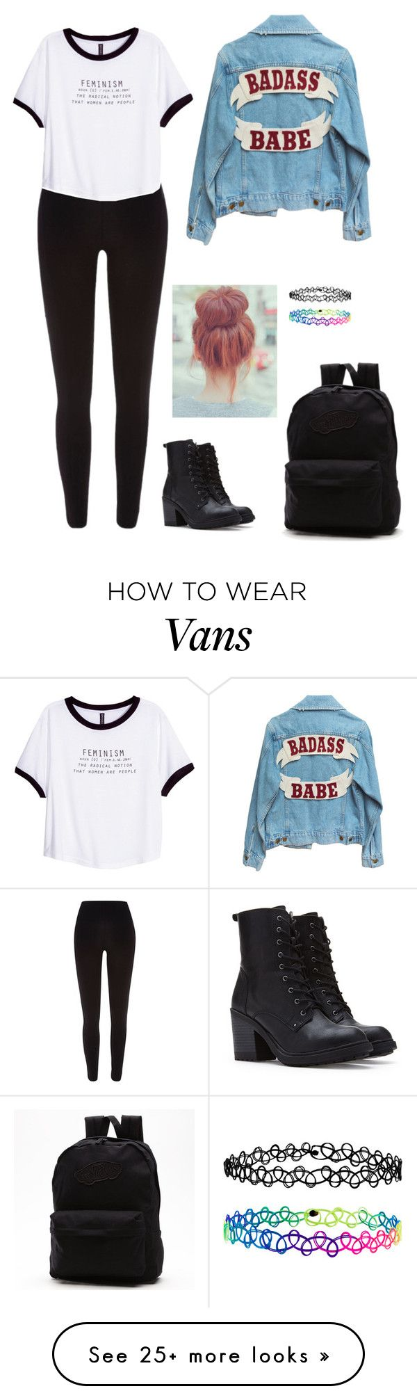 """outfit of the day"" by haileypariswatson on Polyvore featuring River Island, H&M, Forever 21, Accessorize and Vans"