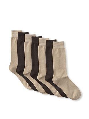 32% OFF Van Heusen Men's Flat Knit Socks - 7 Pack (Khaki/Brown)