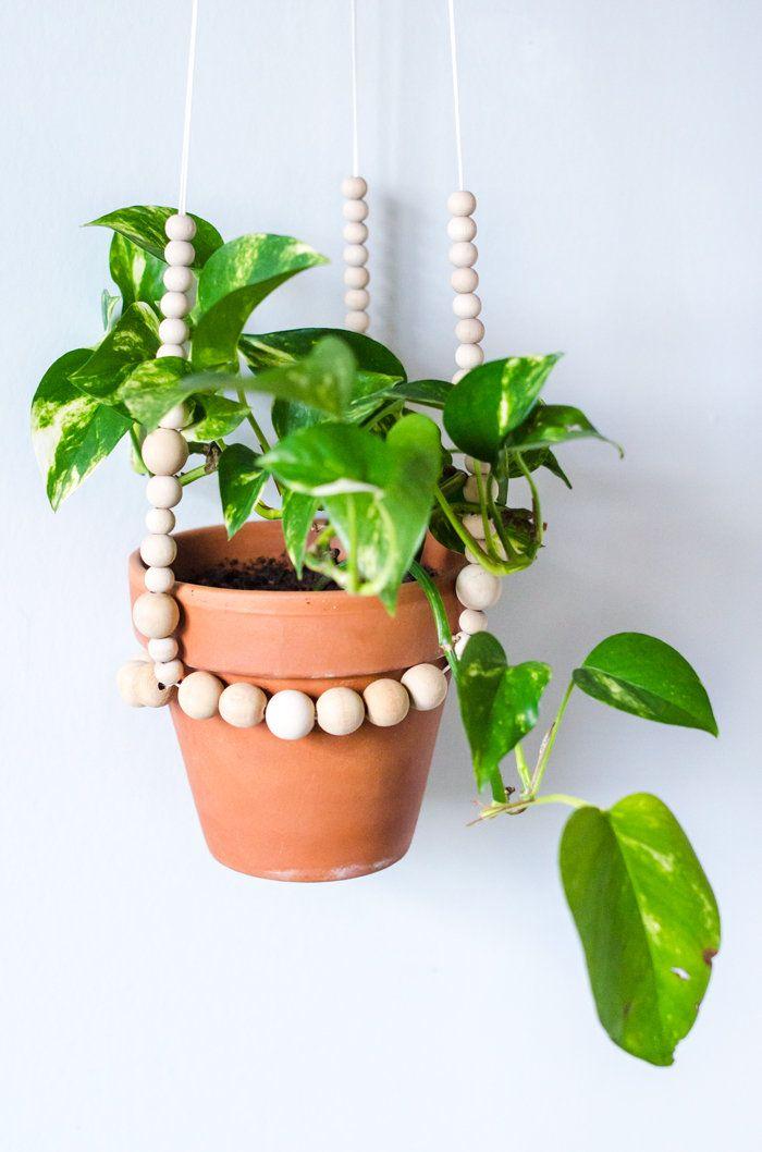 beaded plant hanger.