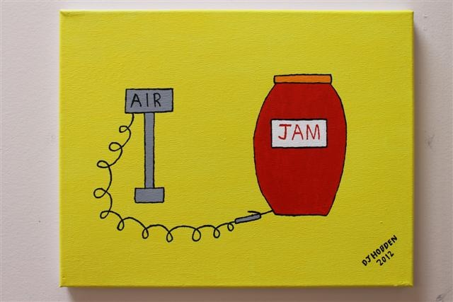This painting is named after a song from the 80's that keeps buzzing around in my head - it is called Pump Up The Jam :o)