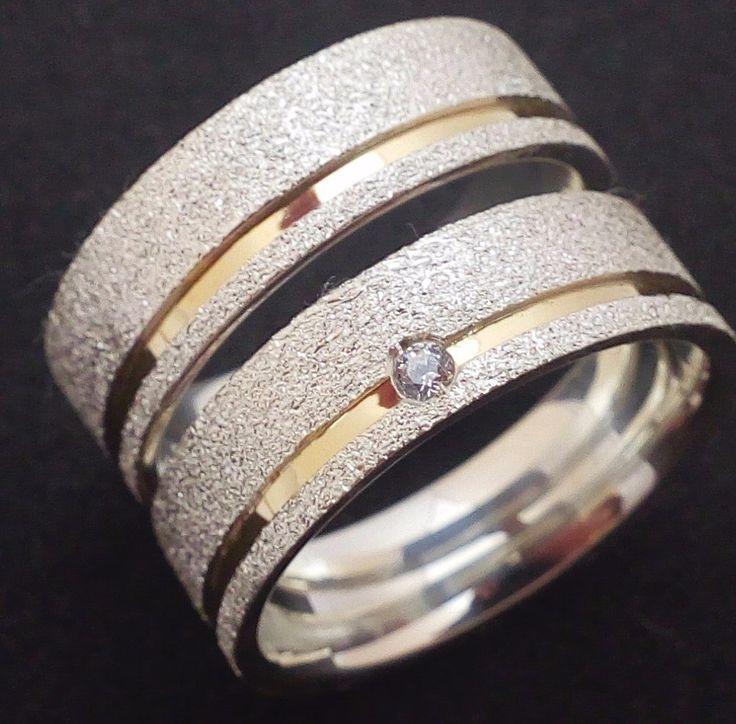 Resultado de imagem para aliança de namoro prata diamantada