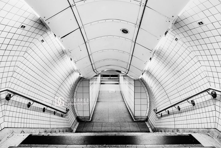 Waterloo Tube Station, London, UK. Image by David Gutierrez Photography, London Photographer. London photographer specialising in architectural, real estate, property and interior photography. http://www.davidgutierrez.co.uk #realestate #property #commercial #architecture #London #Photography #Photographer #Art #UK #City #Urban #Beautiful #Interior #Arts #Cityscape #Travel #Building #BlackAndWhitePhotography #Interiors #Indoor #BlackAndWhite #Tube #LondonUnderground #Waterloo