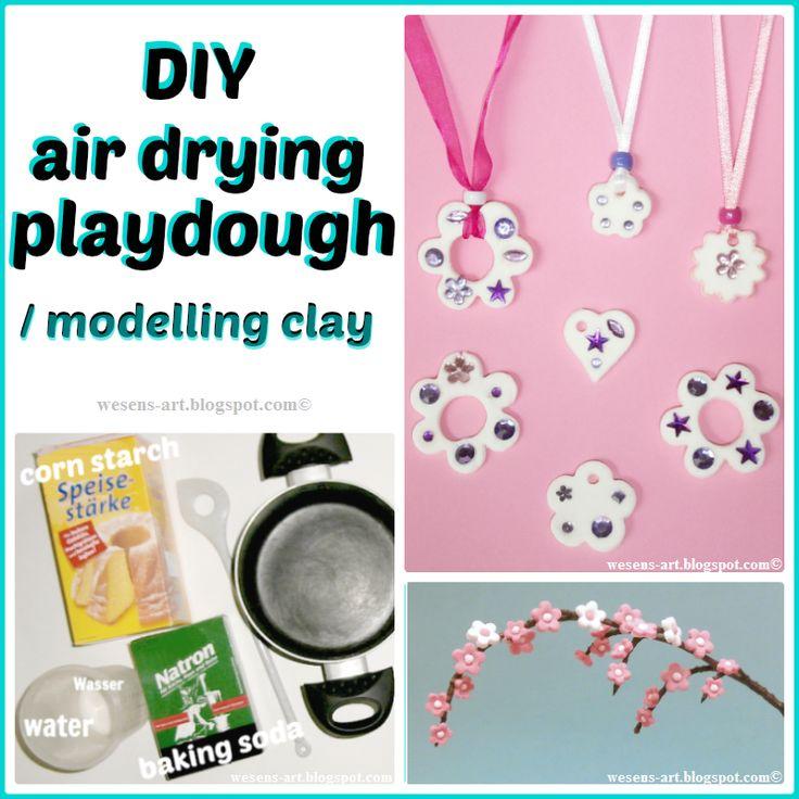 DIY air drying playdough / modelling clay