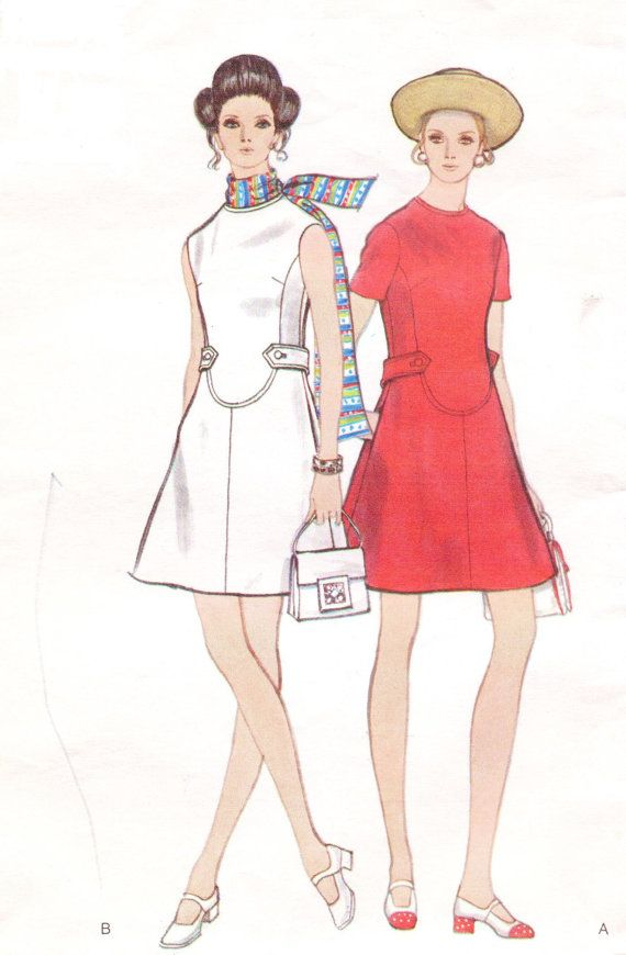 Vintage 1960s Vogue Sewing Pattern 7807 Womens Mod by CloesCloset, $16.00