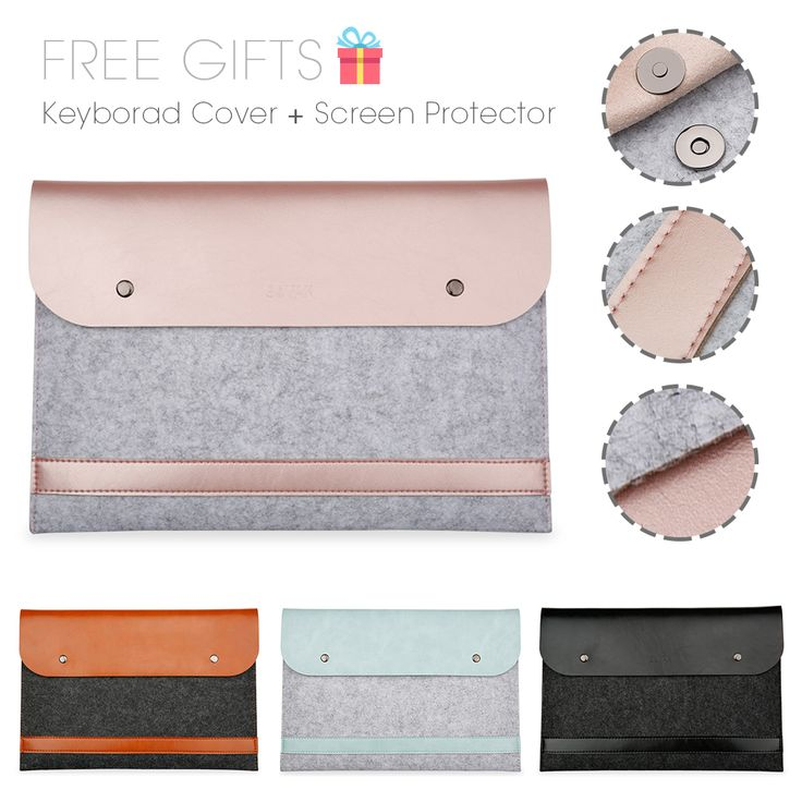 Free Shipping Notebook  Liner Leather Sleeve Bag Case For Apple Macbook Air Pro Retina 11 12 13 15 Laptop For Mac book 13.3 inch