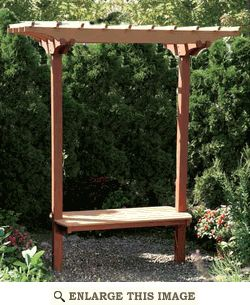Garden Bench and Trellis Woodworking Plan, Outdoor Furniture Project Plan | WOOD Store