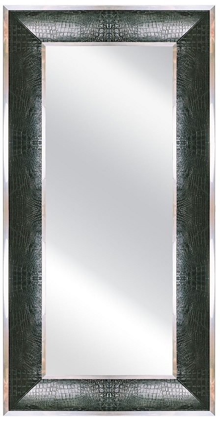 Floor Mirrors, Dressing Mirrors, Luxury Designer Black Crocodile Leather Floor Mirror, so elegant, one of over 3,000 limited production interior design inspirations inc, furniture, lighting, mirrors, tabletop accents and gift ideas to enjoy repin and share at InStyle Decor Beverly Hills Hollywood Luxury Home Decor enjoy & happy pinning