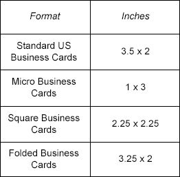 What is the Standard Business Card Size? | Tiny Prints
