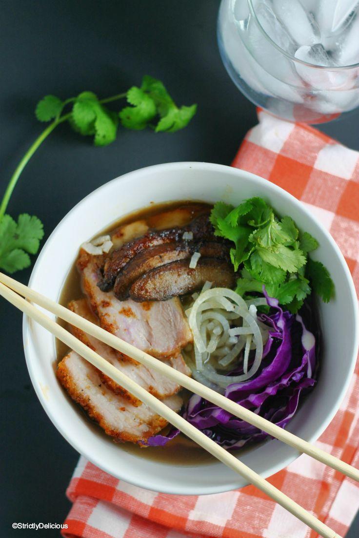 "Pork Belly ""Ramen"" Noodle Bowl {paleo & AIP}   StrictlyDelicious.com"