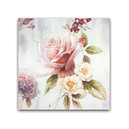 Dipinto di Van Eyck Arte Contemporanea a mano pittura a olio su tela di colore rosa immagini di fiori per la decorazione della parete 20x20 pollici (interno con cornice) fiore1 Van Eyck http://www.amazon.it/dp/B01448U4KY/ref=cm_sw_r_pi_dp_riHWwb170EG0M