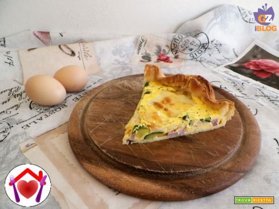 Quiche con pancetta e scamorza  #ricette #food #recipes