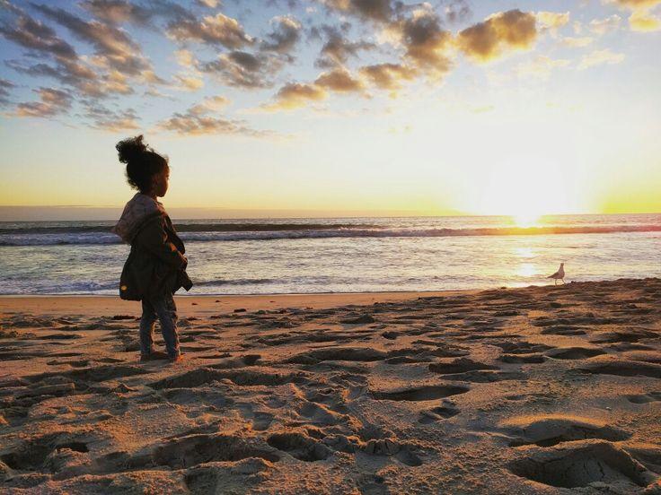 Beach at sunset 😍
