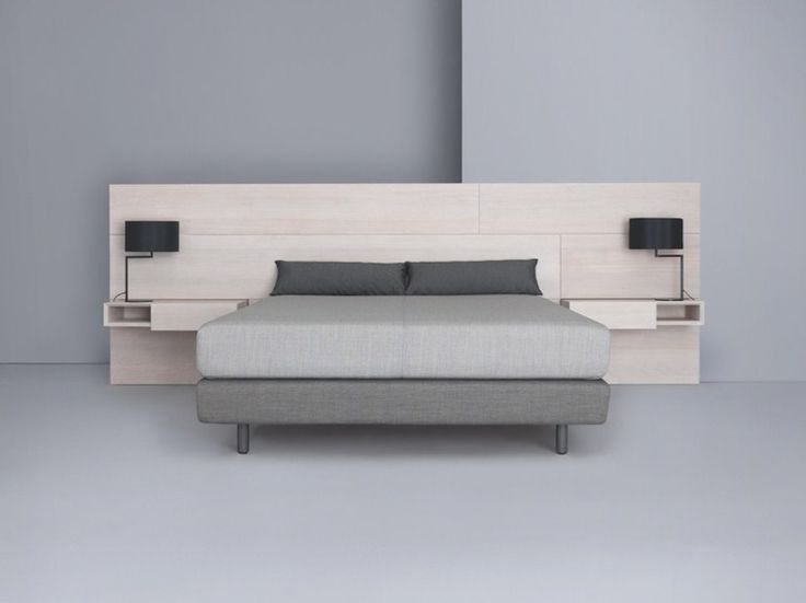 Download the catalogue and request prices of Miut panel by Zeitraum, wooden headboard with integrated nightstands design Julia Fellner, Miut collection