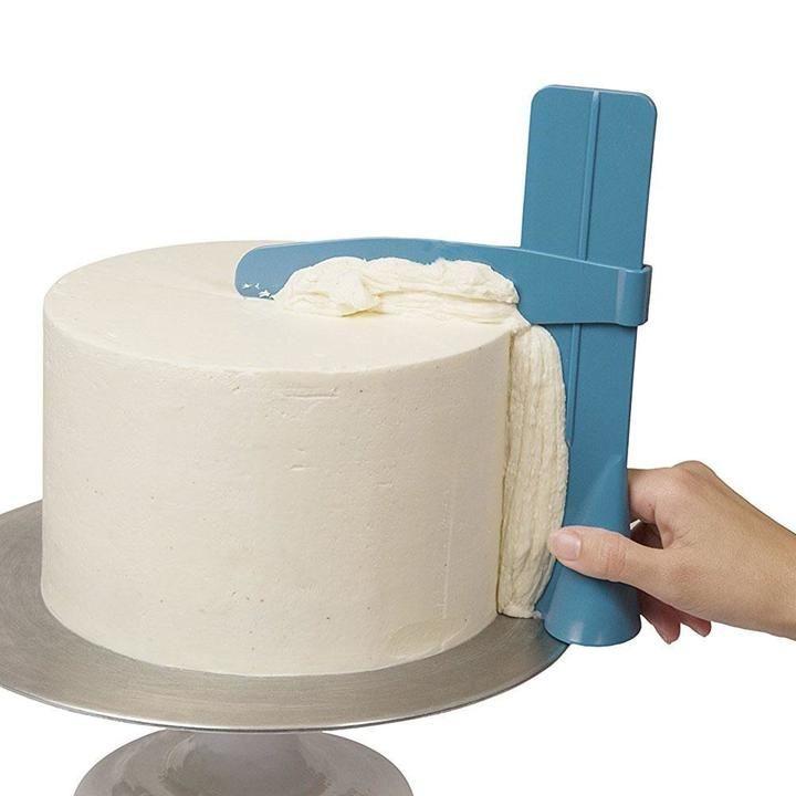 Adjustable Fondant Cake Scraper Icing Piping Cream Spatula Edges Smoother Craft
