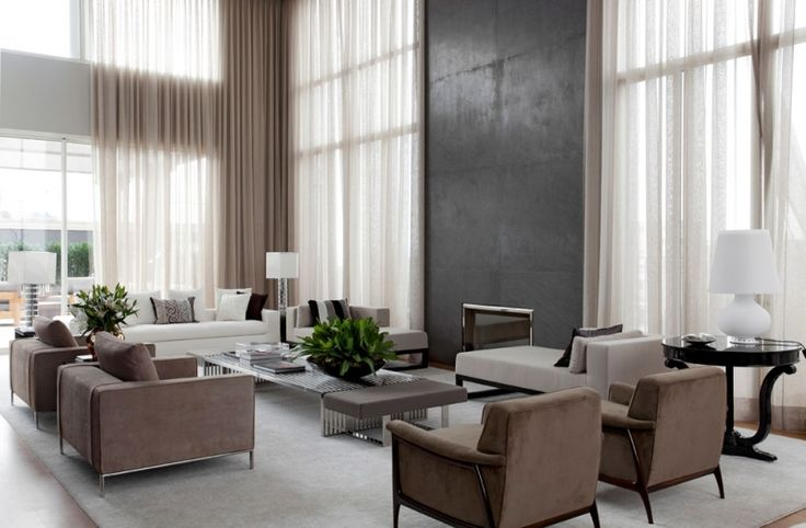 fabulous restful contemporary living space - gorgeous curtains - roberto migotto / apartamento 14, são paolo