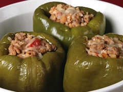 Slow Cooker Sausage-Stuffed Peppers