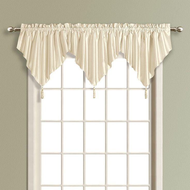 United Curtain Anna Faux Silk Ascot Valance