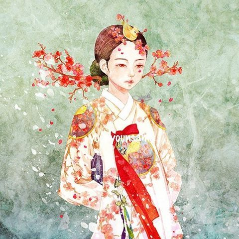 Hanbok illustration | 한복 Hanbok : Korean traditional ...