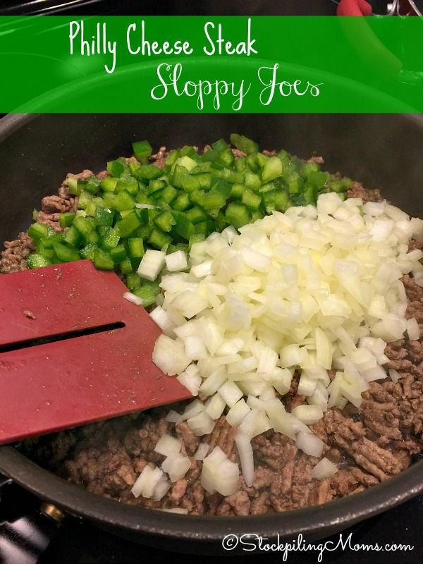 This 30 Minute Meal recipe for Philly Cheese Steak Sloppy Joes tastes amazing! Perfect easy dinner for a busy night.