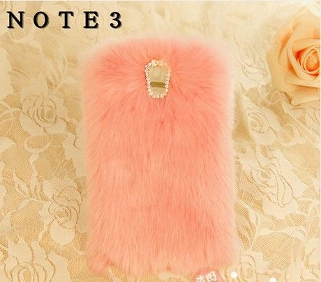 Pink furry Samsung Galaxy note 3 case, Galaxy Note 3 Luxury & Warm Fluffy Phone Case